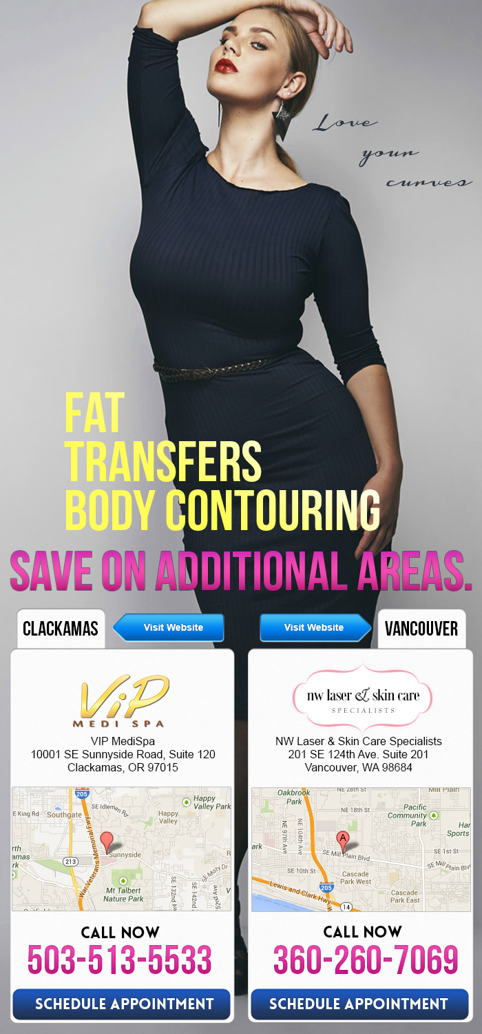 Love your curves by!  Body Contouring & Fat Transfers. Save on additional areas